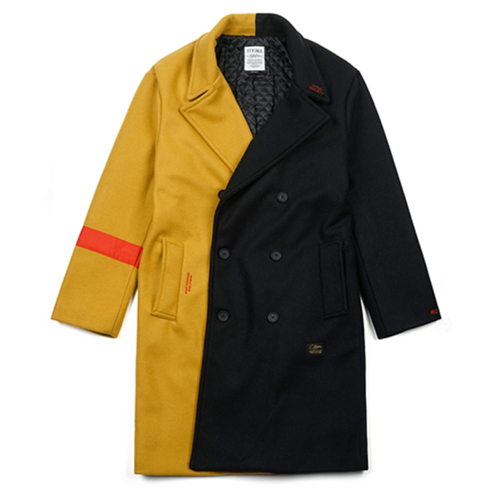 스티그마INFAMOUS OVERSIZED WOOL COAT MUSTARD