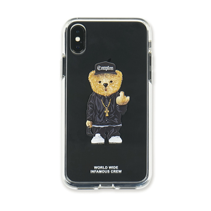 스티그마PHONE CASE COMPTON BEAR CLEAR iPHONE Xs / Xs MAX / Xr