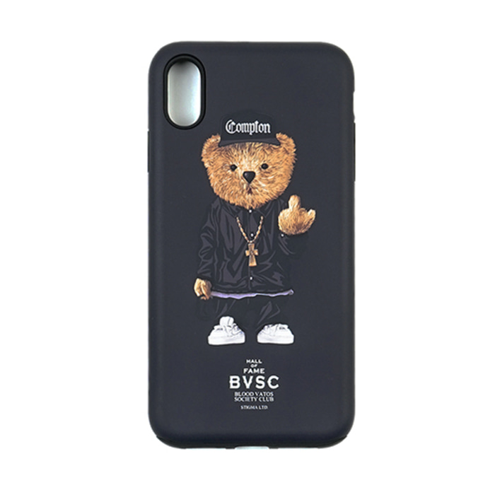 스티그마PHONE CASE COMPTON BEAR BLACK iPHONE Xs / Xs MAX / Xr