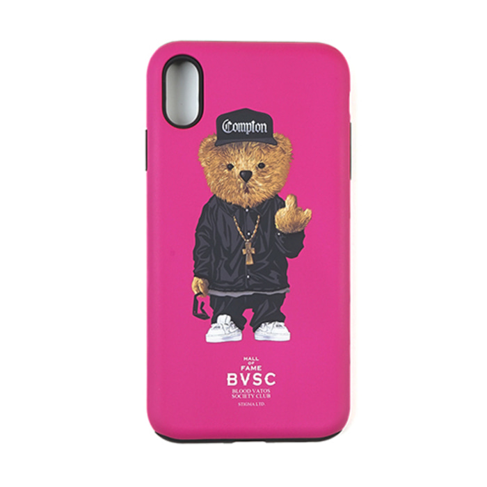 스티그마PHONE CASE COMPTON BEAR PINK iPHONE Xs / Xs MAX / Xr