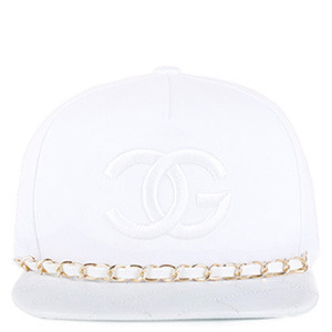 TRILL4트릴포_INSPIRED CHANEL STRAPBACK ALL WHITE