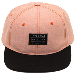 NATIONAL PUBLICITY내셔널 퍼블리시티_SOLID SNAPBACK ORANGE