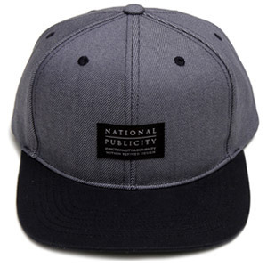 NATIONAL PUBLICITY내셔널 퍼블리시티_SOLID SNAPBACK DARK GREY