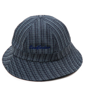 NATIONAL PUBLICITY내셔널 퍼블리시티_STRIPE DENIM BUCKET HAT BLUE