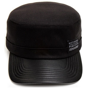 NATIONAL PUBLICITY내셔널 퍼블리시티_LEATHER WORKCAP BLACK