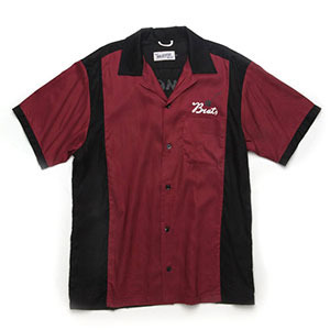 BRATSON브랫슨_SUMMER BUDDY BOWLING SHIRTS BURGUNDY