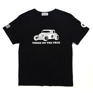 BRATSON브랫슨_THREE ON THE TREE T-SHIRT BLACK/WHITE