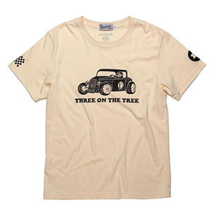 BRATSON브랫슨_THREE ON THE TREE T-SHIRT BEIGE/BLK